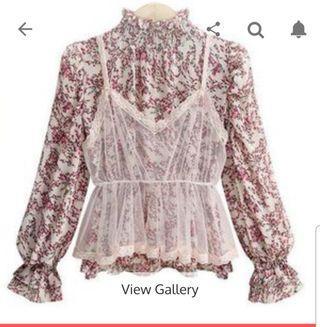Chiffon Shirt Set Long Sleeve
