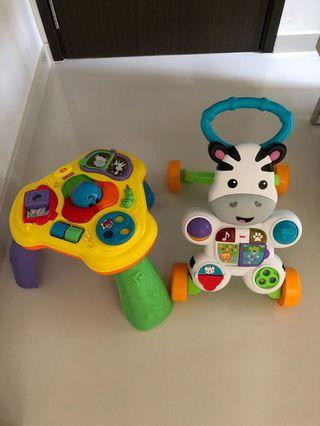 🚚 Fisher price walker and activity center.