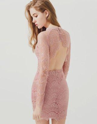 Detailed sexy lace dress