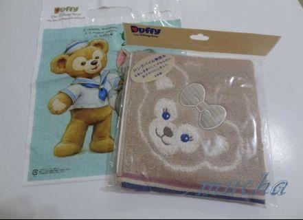 🚚 慕夏名品分享站-全新真品日本迪士尼樂園Duffy ShellieMay達菲/雪莉梅/雪莉玫毛巾/手帕--日本製(正的哦)