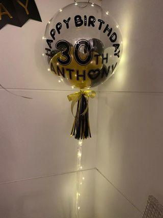 🚚 24'' Customized Helium Balloon (with LED Lights)