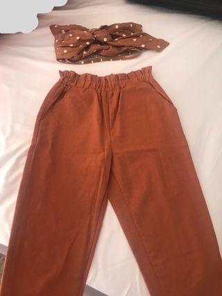 2 piece crop & trousers