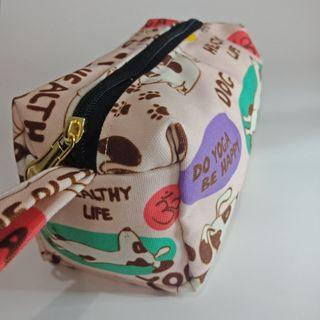 Makeup Pouch - The Yoga Dogs Peach (Ready Stock)