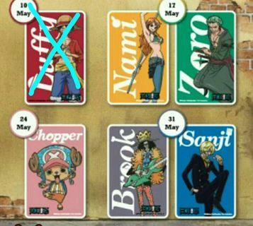 Sanji, Brook, Chopper, Zoro & Nami Ezlink Card