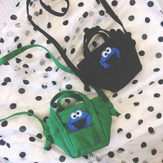 🚚 [PO] cute cookie monster sling bag