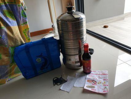 U Like multi layar S.S.steamer/LKK Light S.Sauce/NTUC B.points/Song Fish c.bag