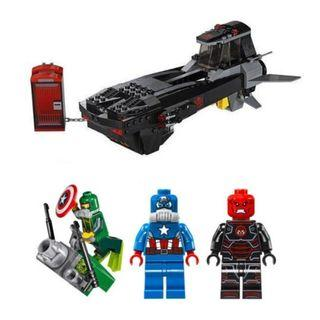 Lego 76048 Iron Skull Sub Attack 場景連圖中人仔 (全新未砌)