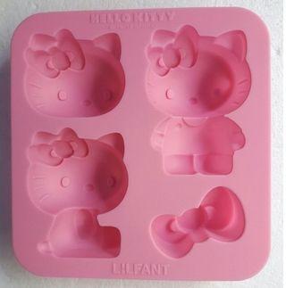 【獨家限量 韓國原裝】LILFANT hello kitty矽膠巧克力模/製冰禮盒套裝 優質嬰幼兒用品