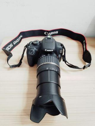 Canon dslr camera with video,long 18-200mm lens, video,full set