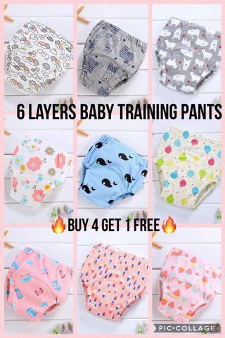 Offer!!! 6 Layers Baby Toilet Training Pants/Potty Training Pants