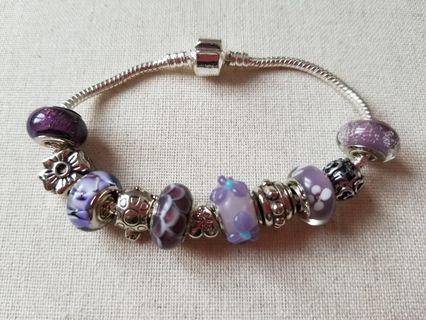 NOGU Sterling Silver Charm Bracelet