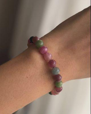 Candy tourmaline bracelet 7.6mm
