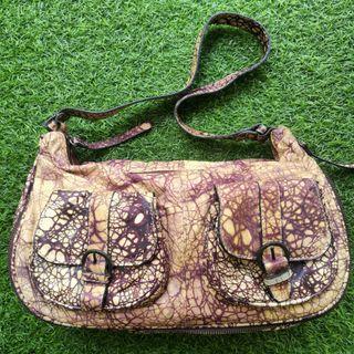 Soft Leather Snake-print Handbag