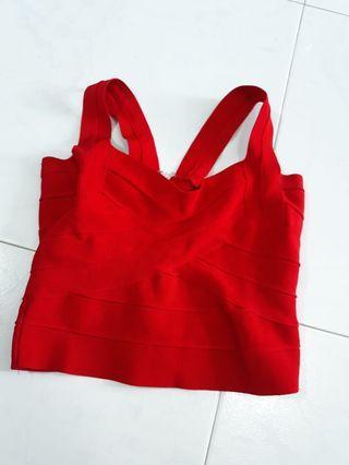 Red Bodycon Crop Top