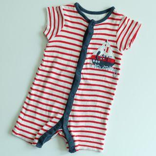 MOTHERCARE BABY WHITE & RED SLEEPSUITS