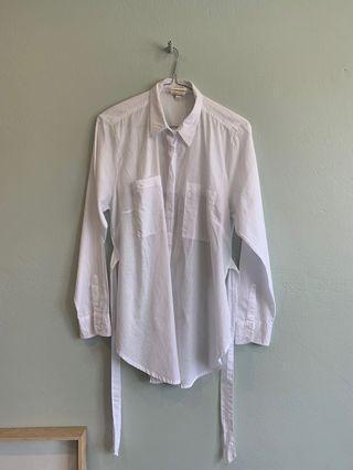 Zulu & Zephyr Linen White Shirt - Size S