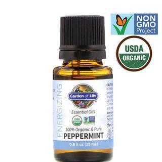 🚚 ORGANIC Peppermint Essential Oil, 15ml for aromatherapy, diffuser
