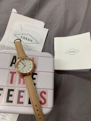 Authentic Fossil Pearl White Watch Leather Strap