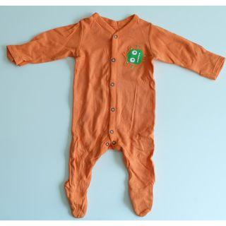 MOTHERCARE ORANGE SLEEPSUITS