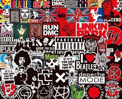 大pack rock music Stickers luggage suitcase notebook stickers 行李箱貼紙電子結他貼紙