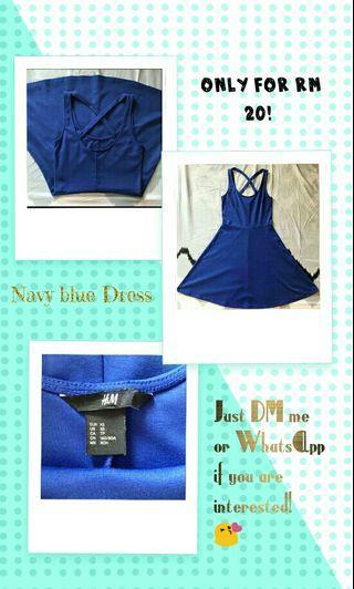 Navy blue sexy dress