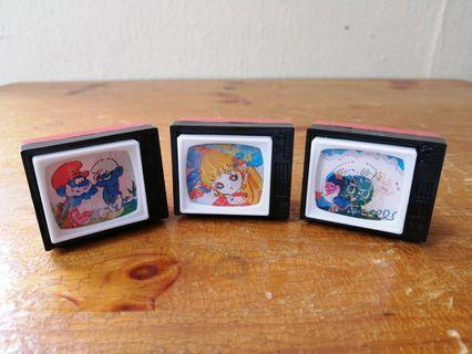 Vintage Plastic TV Sharpeners with changing image