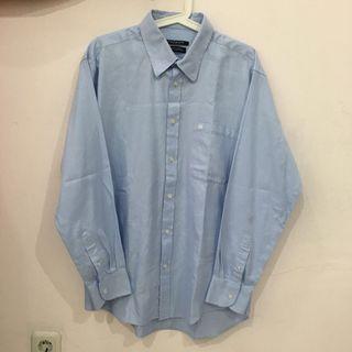 Guy Laroche Diagonal Stripe Blue White Shirt (Kemeja Pria)