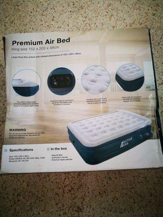 Premium King Size Air Bed with Built-In Electric Pump