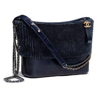 💙 RARE Chanel Shearling Small Gabrielle Hobo (Navy Blue) 💙