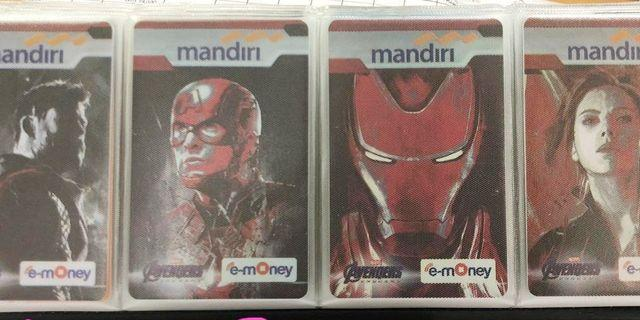 Emoney / etoll card mandiri the avengers end game