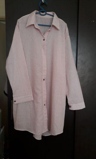 Pink and white long Shirt