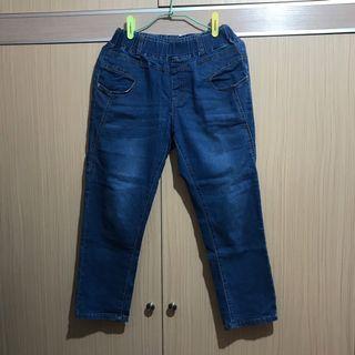 🚚 藍色八分褲