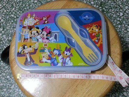 廸士尼摺疊2格食物盒連餐具
