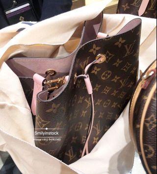 Louis Vuitton Neo Noe 粉紅色水桶袋