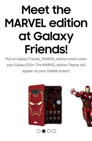 Samsung Galaxy S10 Marvel Smart Cover (Iron Man)