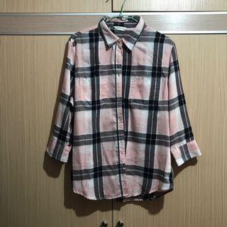 🚚 NET粉色襯衫