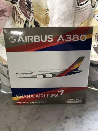 (多圖) 靚 新 1:400 Phoenix PH Asiana Airways A380 HL7625 韓國韓亞航空空中巨無霸 飛機模型