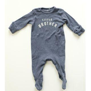 NEXT BABY LITTLE BROTHER SLEEPSUITS