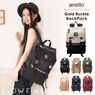 Anello authentic golden buckle Backpack