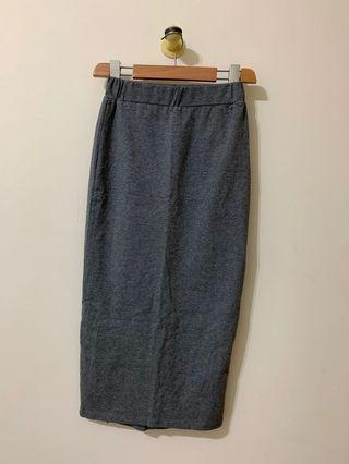 🚚 🐈💕灰色開衩包臀窄裙