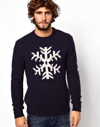 Jack Wills Navy Snowflake Sweater