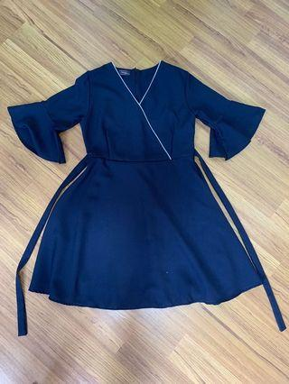 Navy blue Japanese style dress
