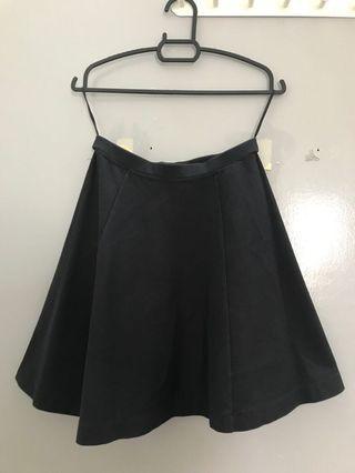 Uniqlo Black Skater Skirt