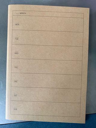 🚚 muji weekly notebook/planner