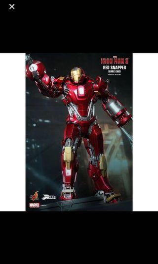 "Hot Toys Iron Man 3 Power Pose Series Mark XXXV ""Red Snapper"""