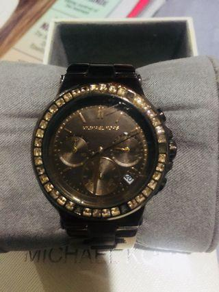 Original MK watch brown with stones Pawnable