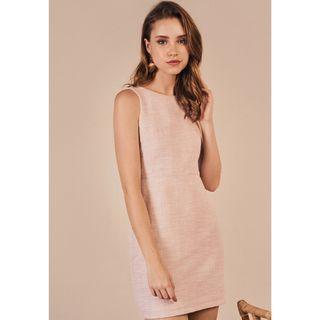 The Closet Lover Fenize Tweed Dress in Pink