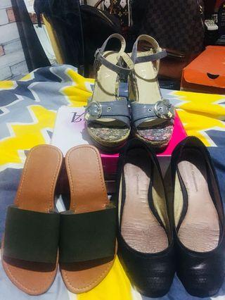 Gibi shoes/ wedge Sandal / flat Carcar slippers Take all for 600