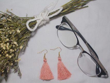 🚚 4 COLOURS!! PINK/GREEN/WHITE/YELLOW TASSLE EARRINGS V2
