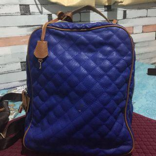 🌺Preloved Blue channel inspired bag with lock